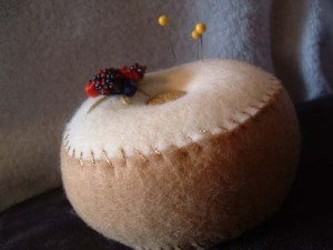Beaded Berry/Berries Full Sized Pincushion