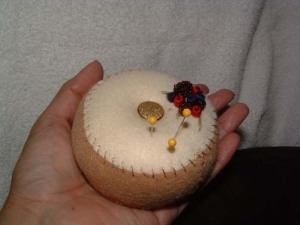 Beaded Berry/Berries pincushion size