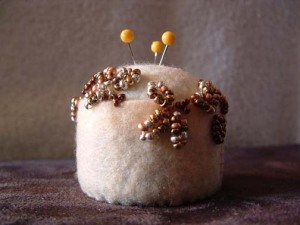 Beaded Glamour Bottle Cap Pincushion