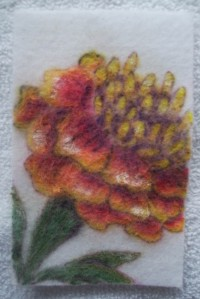 1 Pre ironed marigold with crayon