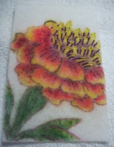 3 stamen embroidered