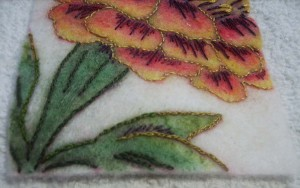 9 close up leaves stitched