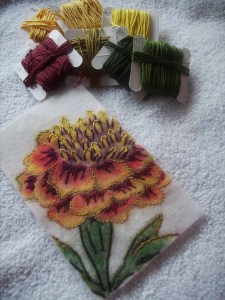 Portrait open final stitched marigold